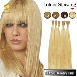"""Wholesale Synthetic Hair I Tip - 100s 16"""" 18"""" 20"""" 22"""" 24"""" Keratin Stick I Tip Human Hair Extensions INDIAN # 33# 30#613"""