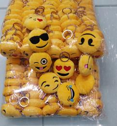 caudas de lobo preto Desconto Hot New 6 cm Emoji Smiley chaveiros bonito dos desenhos animados pingente chave do carro mix mix estilo frete grátis