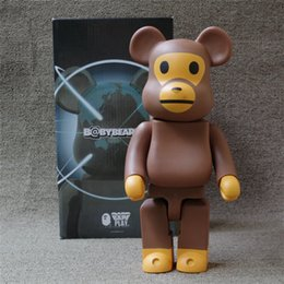 Wholesale Boyfriend Christmas Gifts - Suzannetoyland 400% bearbrick BABY MILO Art made in china Figure As a Gift Action Figure for Boyfriends Girlfriends Christmas Gift