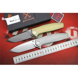 Wholesale Vg Pocket - BEAR CLAW X-750 NEW folding knife Ball bearing VG-10 blade Titanium handle camping hunting Outdoor pocket fruit knives EDC tools Tactical