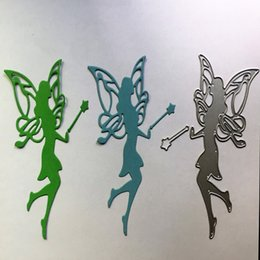Wholesale Scrapbook Christmas - 1PC Wing Fairy Metal Cutting Dies for DIY Scrapbook Photo Album Creation Paper Card Decor Embossing Stencil Christmas GIFTS