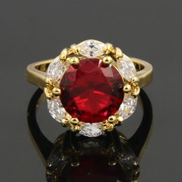Wholesale Wholesale 24k Gold China - Keep Colour Western Brand Queenwinner Jewelry Copper Wedding Engaement 18K 24K High Gold Plated Rings For Women Wholesale Rings PP-30