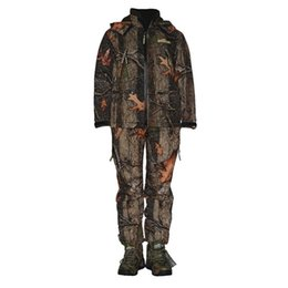 Wholesale Camouflage Waterproof Hunting Jacket - Top quality Winter Men's Rainproof Windproof Realtree maple leaf Camo Hunting Suit Camouflage Hunting Jacket trousers,Camo Hunting Set