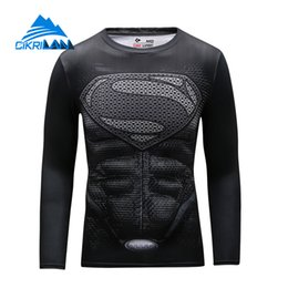 Wholesale Bicycling T Shirts - Wholesale-Cikrilan New Men Super Hero Outdoor Sport Trekking Hiking Fitness Tshirt Homme Quick Dry Long Sleeve Bicycle Sportswear T-shirt