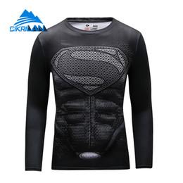 Wholesale Super Hero Shirts - Wholesale-Cikrilan New Men Super Hero Outdoor Sport Trekking Hiking Fitness Tshirt Homme Quick Dry Long Sleeve Bicycle Sportswear T-shirt