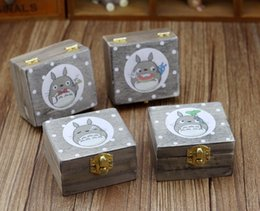 Wholesale Wholesale Wooden Shoes - Creative Totoro wooden Manual Rotate music box High Grade Gift For Children Arts And Crafts Decoration Multiple Patterns 11gl J