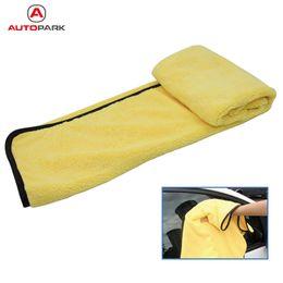 Wholesale Large Microfiber Cloths - Wholesale- Large Size Microfiber Car Cleaning Cloths Car Care Microfibre Wax Polishing Detailing Towels Washing Drying Cloths 92*56cm