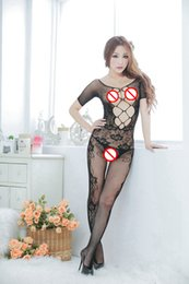 Wholesale See Through Tight Lingerie - Transparent Women Sexy Lingerie Lady Tight Sexy Underwear Colour Mesh Erotic Bodysuit Sleepwear Nightdress For Adult