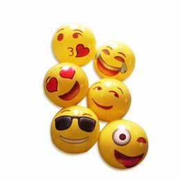 Wholesale Universe Toys - Emoji Universe: 12 Emoji PVC Inflatable Beach Balls, Inflatable Ball Pool 12 Pack Outdoor Play Beach Toys ZD125