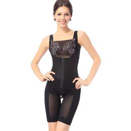Wholesale Hip Girdle Underwear - Wholesale- Shapewear Women Slim Body Shaper Underbust Waist hips Corsets Bodysuit Girdles Cincher Slimming Underwear Plus Size