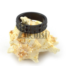 Wholesale Cheap Couples Ring - Black Couple Ring For Women Fashion Style Cheap Plated Ring Stainless Steel Jewelry Wholesale Free Shipping