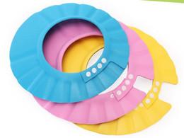 Wholesale Shower Caps For Kids - 2016 3 Colors Safe Shampoo Shower Bath Protection Soft Caps Baby Hats For Kids 7-12 months