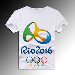 Wholesale T Shirts For Men Lycra - men t shirt 2016 Rio Olympics Games Commemorative Anti-Pilling for Men Print Cartoon Free Shipping