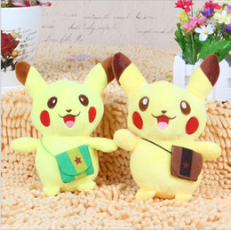 Wholesale Pokemon Doll Pikachu - 18cm Pikachu Plush dolls cartoon Poke plush toys poke Stuffed animals toys soft Christmas toys