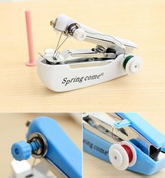 Wholesale Portable Sewing Machines - 2016 hot sales Multifunctional household mini manual sewing machine portable small pocket-size sewing machine mini sewing machine