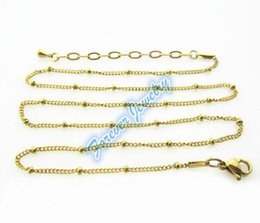 Wholesale float glass china - Hot Arrival 5pcs!!! 45+5cm floating glass locket chains rainbow stainless steel floating charm pendant locket chain