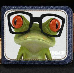Wholesale Rock Design Cases - Frog wallet Cute cartoon anime purse Fresh design short cash note case Money notecase Leather burse bag Card holders