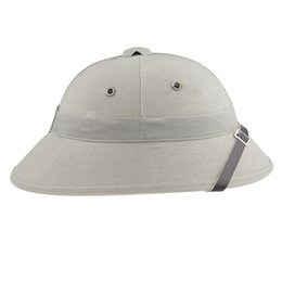 Wholesale Hat War - Wholesale-VIETNAM WAR ARMY HAT NVA VIETCONG VC PITH HELMET GRAY-33662
