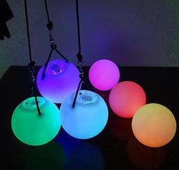 Wholesale Dance Throw - 200pcs lot POI LED Luminous Throw Balls Diameter 8cm for Belly Dance Stage Performance Talent Show Hand Props Gradient Change Color