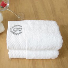 Wholesale White Cotton Material Wholesale - Cotton Woven Towels Hand Wash Face Towel White Color Thicken Material Wholesale Perfect For Hotel Guest House Use 35*75Cm 150G