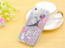 Meninas bonitas do telefone on-line-Moda linda menina da borboleta brilho dinâmico quicksand líquido rígido pc telefone tampa traseira para iphone 5s se 6 s 6 7 plus phone case