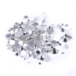 Wholesale Glue Nails 3d - SS12-SS50 Crystal Clear Color Non Hotfix Strass Rhinestones For 3D Nails Art Decoration Round Flatback Glue On Stones DIY Jewelry Making