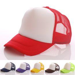 Wholesale Vintage Trucker Hats - New Vintage Plain Trucker Mesh Hat Snapback Blank Baseball Cap Adjustable Size