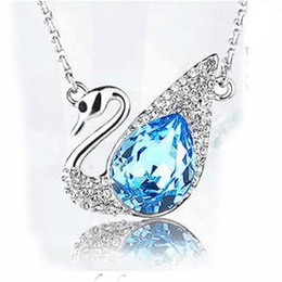 Wholesale Elegant Elements Wholesale - Free Shipping new arrival elegant swan crystal necklace,2016 woman fashion Austrian crystal element jewelry wholesale price