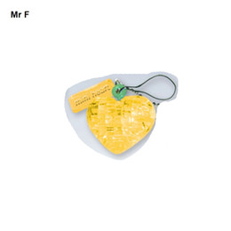 Wholesale Mini Heart Toy - Classic Crystal Puzzle Lover Heart Yellow Mini 3D Model Practical Gift For Kid Cute Toys Creative Game