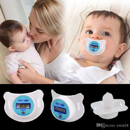 Wholesale Baby Digital Thermometer Soother - Electronic Infant Baby Digital Dummy Pacifier Thermometer Soother Nipple Safe Mother's Good Helper Practical Mouth Nipple Temperature