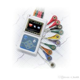 Wholesale Ecg Ekg Portable Heart Monitor - ECG Holter 3-Channel 24 Hour Handhold Heart Monitoring Recorder System Holter Monitor TLC9803 Portable Cable ECG EKG