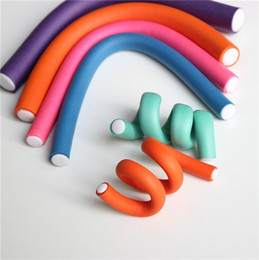 Wholesale Soft Bendy Foam Curlers - Convenient Affable Curler Makers Soft Foam Twist Curls Hair Rollers Hot Soft Foam Curler Makers Bendy Twist Curls Tool DIY Styling Hair