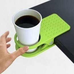 Wholesale Table Coffee Cup Holder - Free Shipping hot sale New Arrival Christmas gifts Office Table Desk Drink Coffee cup Holder Clip Drinklip