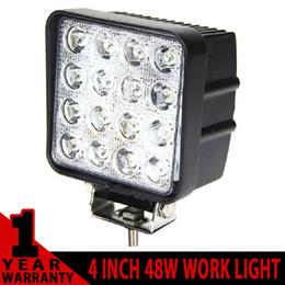 Wholesale Led Offroad Lights 24v - led spotlight offroad 12v 24V 48W 16x3W led work lights for car sea road 3300LM led work light 48w