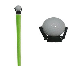 Wholesale Golf Ball Pick Up Wholesale - Mini black Retractable Golf Ball Pick Up Tool Saver Claw Put on Putter Grip Retriever Grabber Training Aids Fits All Putter Ball Retriever