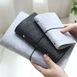 Wholesale Japanese Notebook Wholesale - Wholesale- Vintage Journal Diary Japanese Style Brief Tapirs Loose-leaf Folder Notebook 6 Shell Bandage A5 A6 A7 Office Supplies Agenda