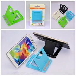 2019 telefono cellulare di sostegno di plastica Stand Monti supporto del telefono Fold supporto registrabile del supporto Monti supporto portatile per il cellulare iPad con Pacchetto