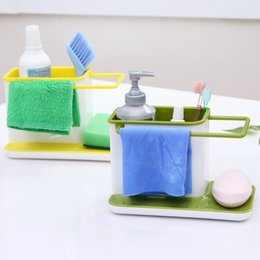 Wholesale Finished Bathrooms - Multi Function Storage Racks Easy To Clean Plastic Sundries Shelf Removable Non Toxic Finishing Holder Kitchen Tools 6py B R