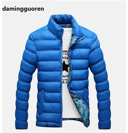 Wholesale Cross Waterproof Jacket - Fall-2016 New Ultralight Men Warm cotton Jacket Winter Outdoor Sport Coat Waterproof Down Parkas Outerwear M-4XL
