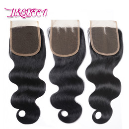 Wholesale Malaysian Queen Hair - Body Wave Top Closures Brazilian Virgin Hair Closure Natural Color Brazilian Body Wave Queen Lace Closure