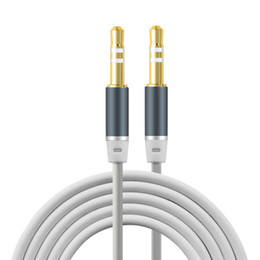 Wholesale Headphone Extension Iphone - Newest design 3.5mm Jack Audio Cable Gold Plated Jack 3.5 mm Male to Male TPE Audio AUX Extension Cable For iPhone Car Headphone Speaker