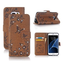 Wholesale Diamond Cell Phone Cases - For iphone X 8 7 6 6s 5 Phone Case PU Embossing Drill Shell Diamond Flip Cover For Samsung Huawei New Arrival Cell Phone Wallet Case OPPBag