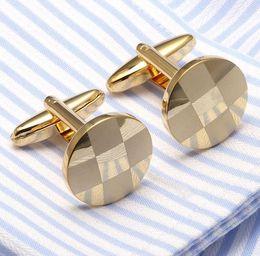 Wholesale Lattice Cufflinks - High Quality Shirt Cufflinks New Lattice Sleeves Nails