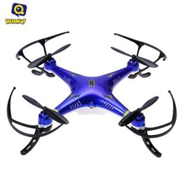 Wholesale Toy Rotor - HOT Huanqi RC Drone Professional 2.4G 4CH 6-Axis Gyro RTF Mini Quadcopter Drone Toy Remote Control Helicopter Wholesale +B