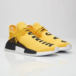 Wholesale Cheap Black Athletic Shoes - 2018 Cheap Wholesale NMD Online Human Race Pharrell Williams X NMD Sports Running Shoes,discount Cheap Athletic mens Shoes With Box