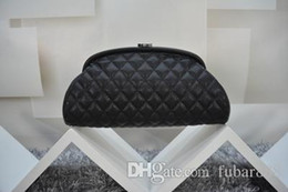 Wholesale Celebrity Bags Genuine Leather - Free Shipping!Fashion Brand Clutches Genuine Leather Evening Bag Quilted Hasp Celebrity Leather Bag 351178