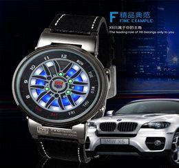Wholesale Tvg Blue Binary Watch - Hot sale TVG Brand Men's Clock Fashion Blue Binary LED Pointer Watch Stainless Steel 30AM Waterproof Watches hours