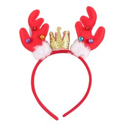 Wholesale Christmas Props For Baby Photography - Christmas Deer Antler Hair Band Snowman Baby Hair Band For Kid Girl Crown Headband Photography Props For Party