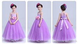 Wholesale Teen Skirts - Pageant Dresses For Girls Children Teen Pageant Wedding Party Lilac Dress Tutu Costumes Evening Dress Skirt flower girl dresses
