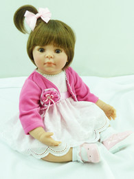 Wholesale Lifelike Inflatable Dolls - Wholesale- Kids Toys Soft Vinyl Silicone Lifelike Newborn Baby Dolls Toy Handmade Realistic Alive Doll for Girls and Boys Dolls Collection